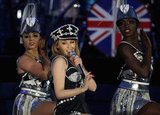 Kylie Minogue performed at the Diamond Jubilee Concert at Buckingham Palace.