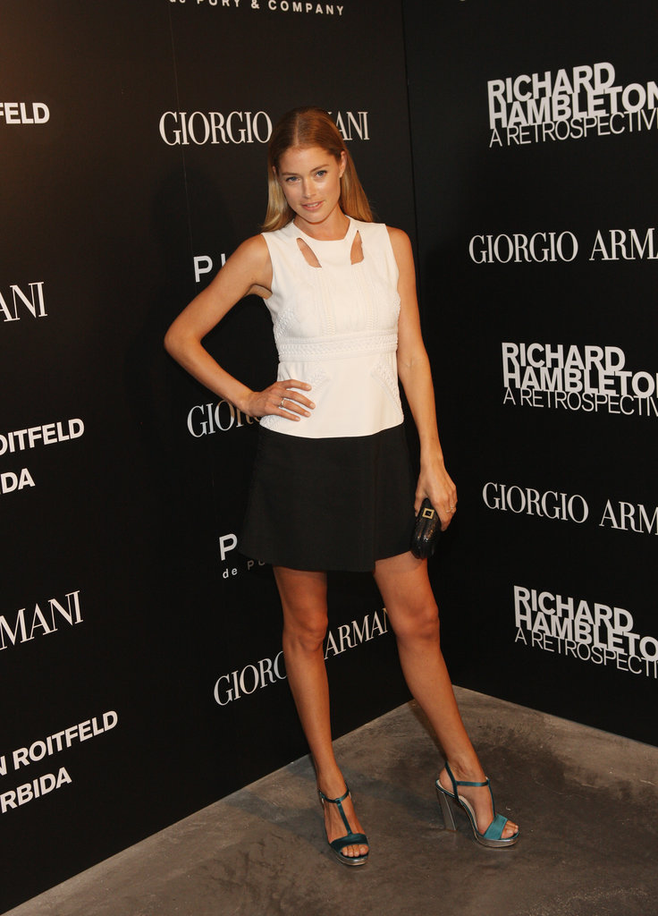 Doutzen Kroes at the opening of the Richard Hambleton retrospective in New York in September 2011.