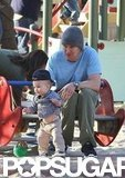 Owen Wilson and son Robert Wilson visited an LA park in December 2011.