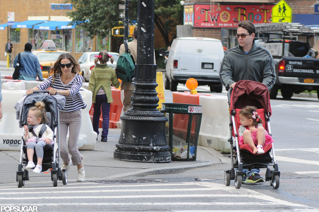 Sarah Jessica Parker and Matthew Broderick took a family stroll in NYC.