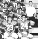 Ryan Seacrest, top right, was on the football team.