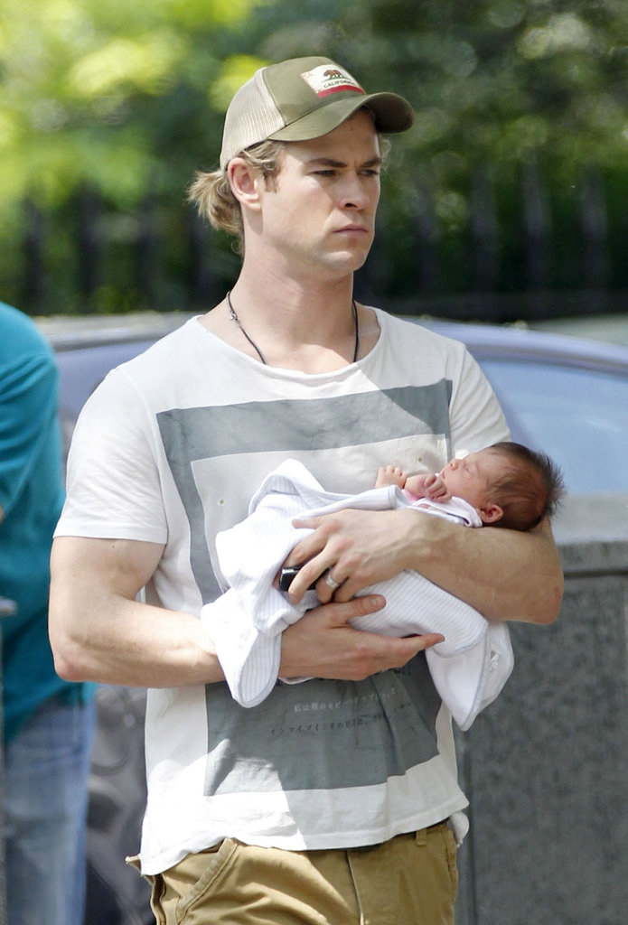 Chris Hemsworth welcomed daughter India Rose in May 2012. He stepped out with the little one in London later that month.