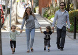 Tobey Maguire is dad to kids Otis and Ruby with his wife, Jennifer Meyer. The family of four stepped out for lunch in LA in April 2012.