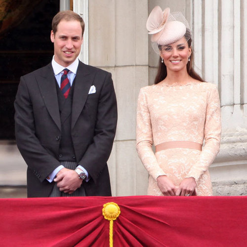 Kate Middleton and Prince William Pictures on Buckingham Palace Balcony During Diamond Jubilee
