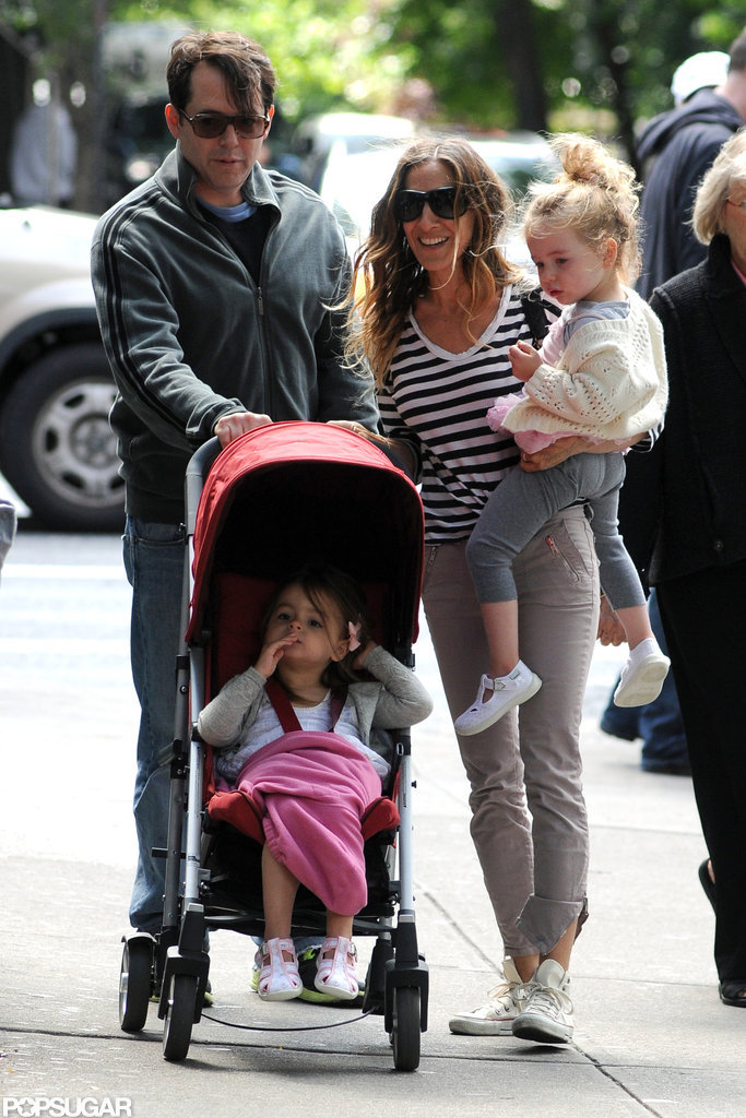 Sarah Jessica Parker and Matthew Broderick looked like one happy family in NYC.