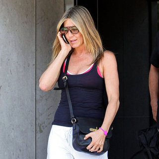 Jennifer Aniston Leaving Gym Pictures in LA