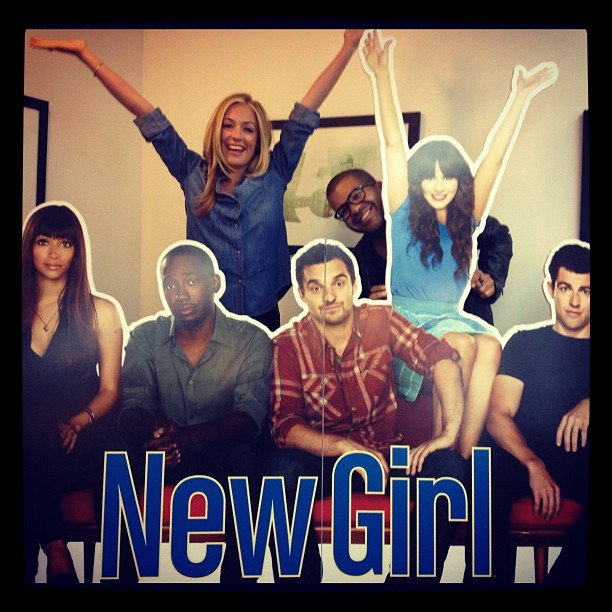 Cat Deeley channeled New Girl. Source: Instagram user catdeeley
