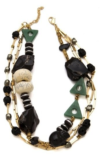 We love the eclectic feel of this necklace — be sure to look a little closer at the skull-inspired rocks and earthy beads. Made Her Think Haunted Forest Necklace ($345)