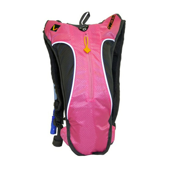 A low-key, lightweight pack that offers a great punch of color is this pink Goosebery Hydration Ledge ($15) that carries 1.5 liters.