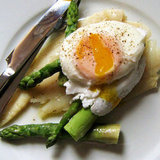 Poached Egg, Asparagus, and Haddock