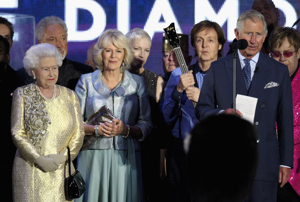 Prince Charles addressed the crowds at the Diamond Jubilee Concert at Buckingham Palace.