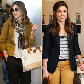 Sophia Bush Canvas and Leather Bag