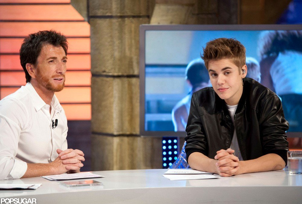 Justin Bieber joined the host of El Hormiguero.
