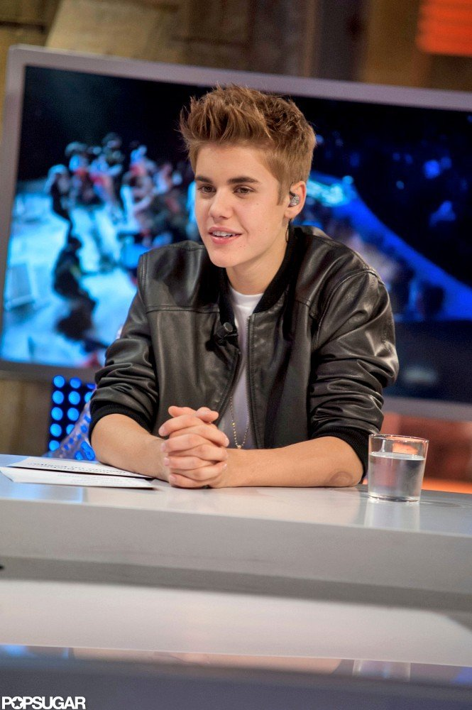 Justin Bieber visited the set of El Hormiguero in Madrid.