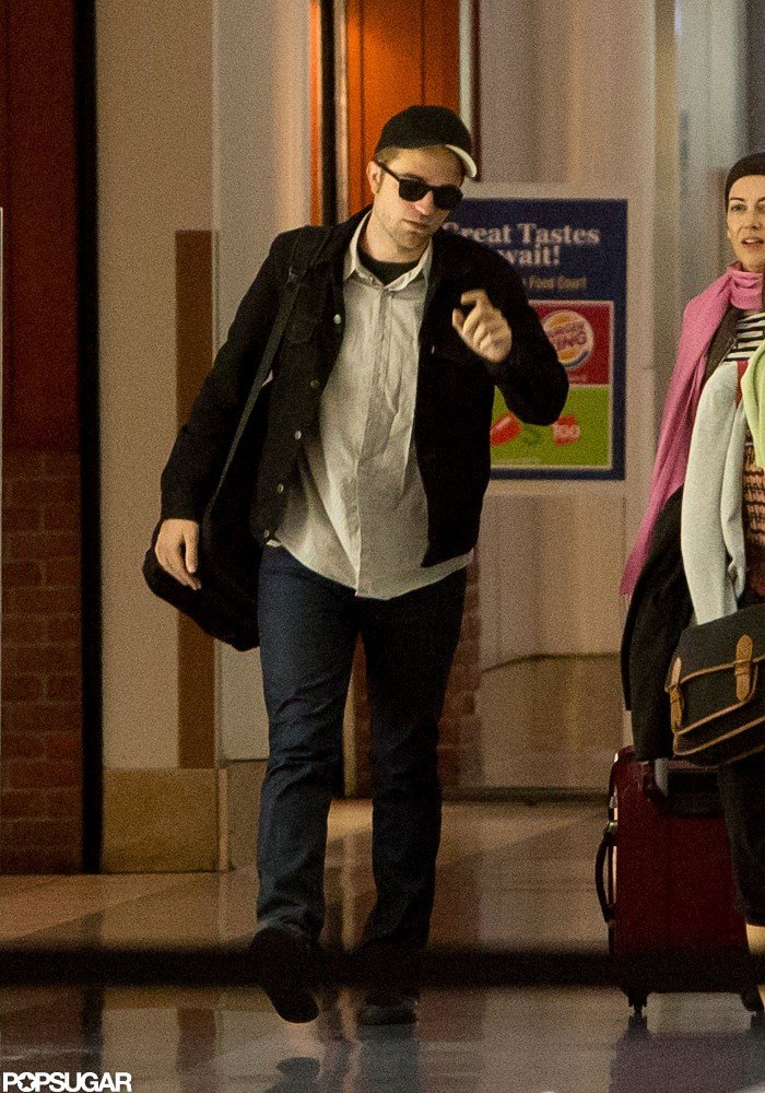 Robert Pattinson made his way through LAX.