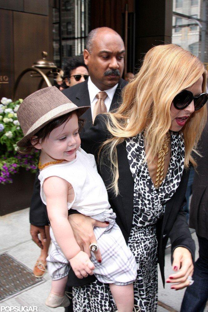 Skyler Berman got a lift from his mom, Rachel Zoe, in NYC.