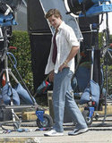 Liam Hemsworth was spotted on set in New Orleans.