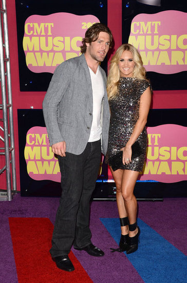 Carrie Underwood Sparkles at the CMT Awards With Mike Fisher