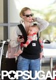January Jones arrived at LAX with son, Xander.