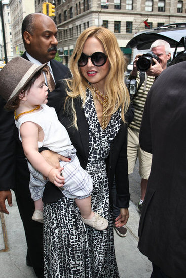 Rachel Zoe carried baby Skyler Berman in NYC.