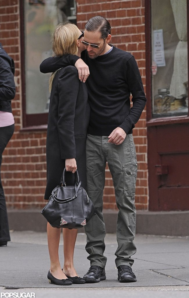 Kate Bosworth and Michael Polish were affectionate with each other while strolling through the West Village in NYC.