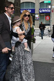Rachel Zoe carried Skyler as she and Rodger Berman left the Trump SoHo hotel in NYC.