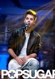 Justin Bieber sang for the audience on El Hormiguero.