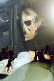 Jessica Simpson hopped in her car after leaving her personal trainer's house in LA.