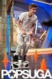 Justin Bieber had fun on the set of El Hormiguero.