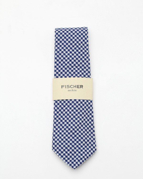"Dad's signature button-down shirts will get a pretty pop of prepster-chic with this gingham tie.  Fischer Jackson 2"" Tie ($60)"
