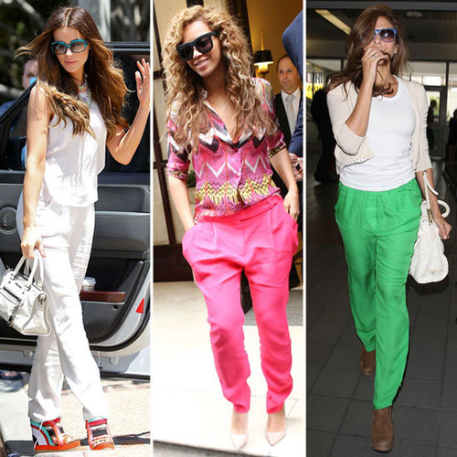 Celebrity Street Style Snoop: See Beyonce, Eva Mendez And More Wearing The Breezy Pant Trend