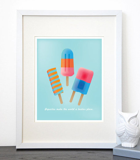 Popsicles Make the World Tastier Print ($18)