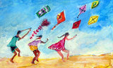 Martha's Vineyard Kites and Kids Print ($10)