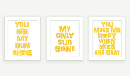 You Are My Sunshine Print Set ($40)