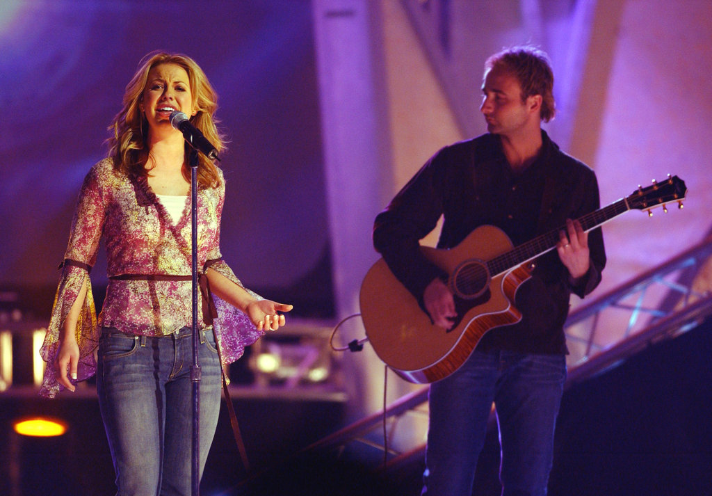 Joy Williams sang during the Dove Awards in 2003.