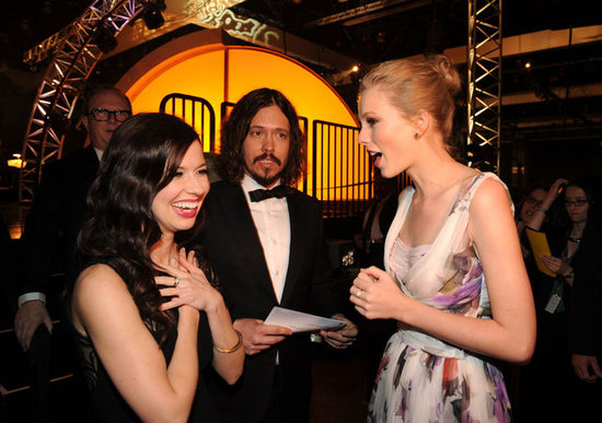 Joy and John Paul shared a moment with Taylor Swift at the Grammys this year.