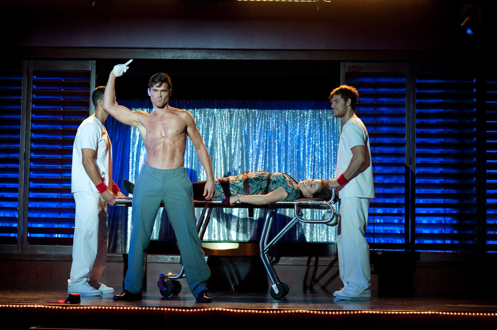 Matt Bomer and Alex Pettyfer shared the stage in Magic Mike. Photos courtesy of Warner Bros.