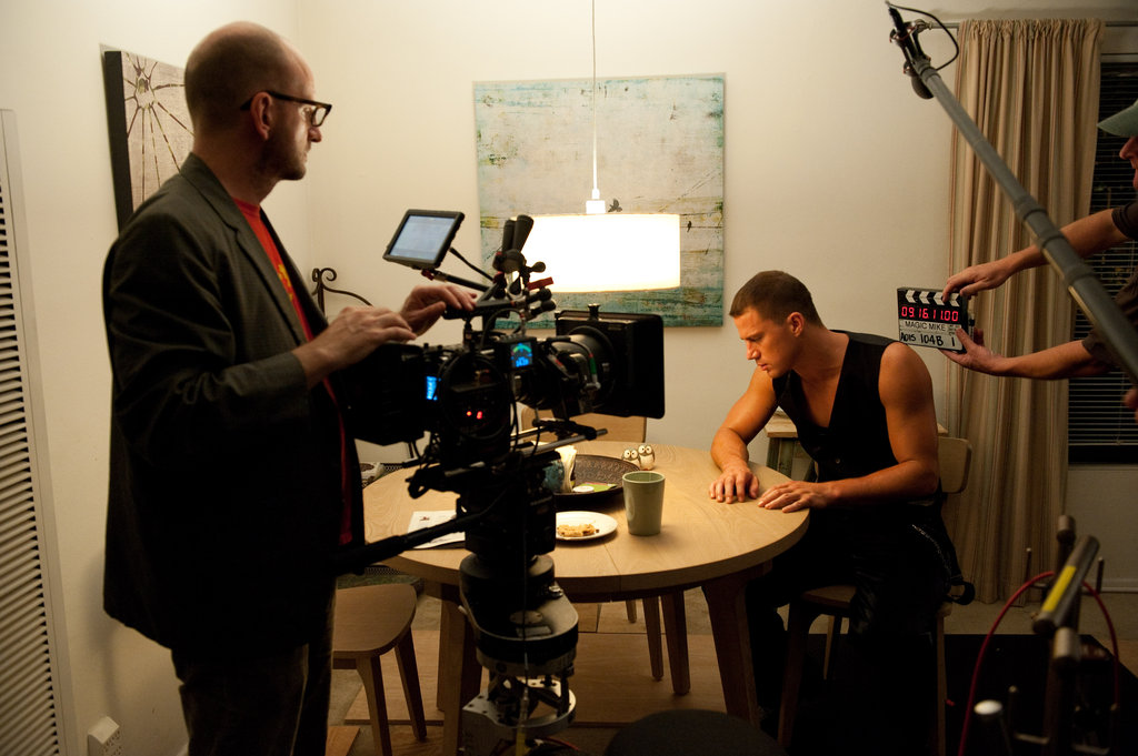 Steven Soderbergh and Channing Tatum on the set of Magic Mike.
