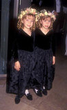 Mary-Kate Olsen and Ashley Olsen looked adorable in matching flower wreaths for the Writers Guild of America Awards back in 1994.