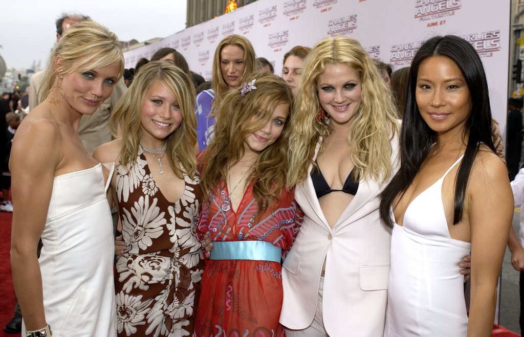 Mary-Kate Olsen and Ashley Olsen posed with Cameron Diaz, Drew Barrymore, and Lucy Liu at the Charlie's Angels: Full Throttle premiere in 2003.