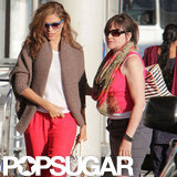 Eva Mendes and Donna Gosling at the airport.