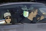 Alexander Skarsgard drove Ellen Page leaving the LA Kings Stanley Cup finals game in LA.