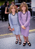 Mary-Kate Olsen and Ashley Olsen visited NYC wearing blue and purple variations of the same outfit in the '90s.