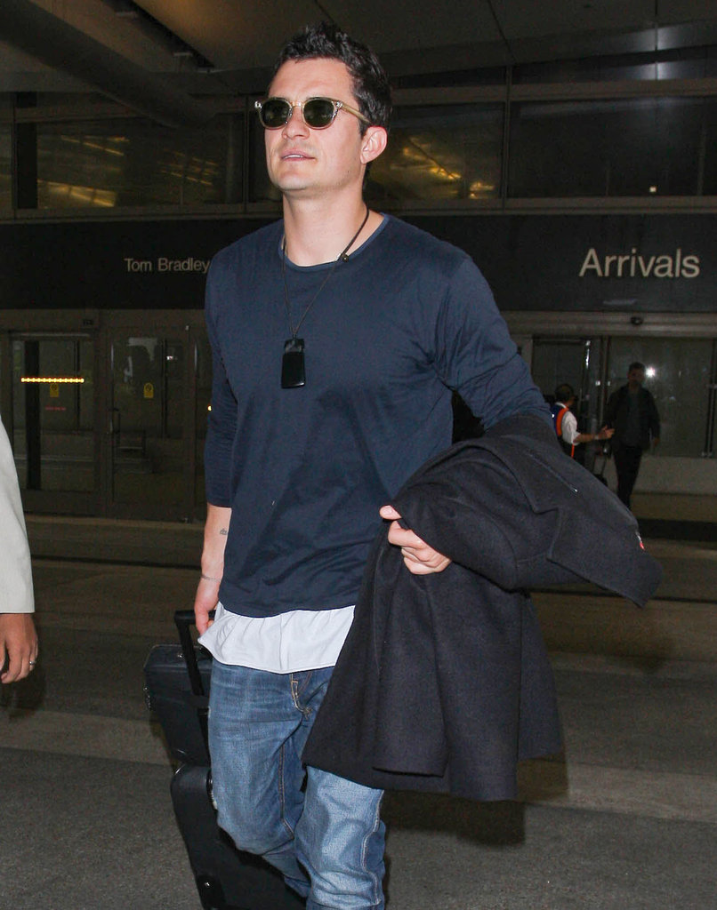Orlando Bloom landed at LAX.