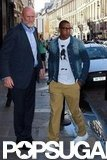 Jay-Z rocked glasses and a denim jacket in Paris.