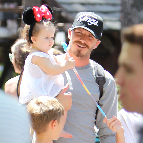 Beckham Family Pictures at Disneyland