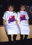 Mary-Kate Olsen and Ashley Olsen looked adorable in oversized Planet Hollywood t-shirts in the '90s.