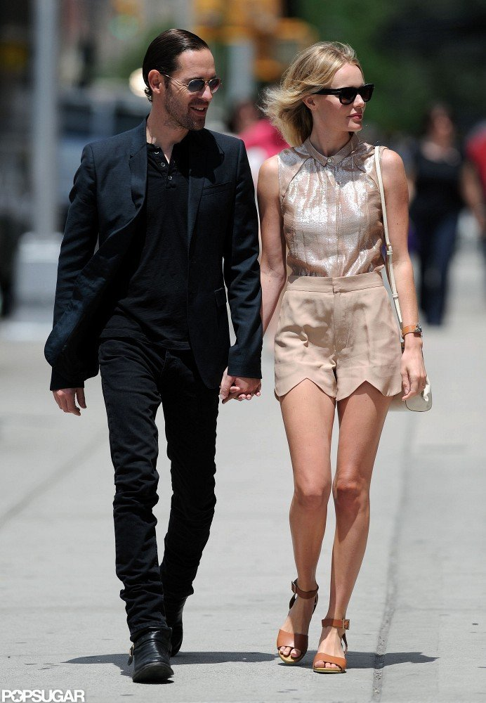 Kate Bosworth and Michael Polish held hands for a stroll around NYC.