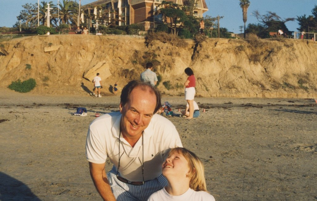 """I love this picture of my dad from the '90s — I think he's still wearing that white polo these days! He definitely kept it cool with seersucker shorts and showed off his practical side with the peeper keepers to hold his sunglasses around his neck."" — Lauren Turner, PopSugar associate editor"