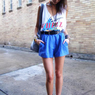 Street Style High-Waisted Shorts